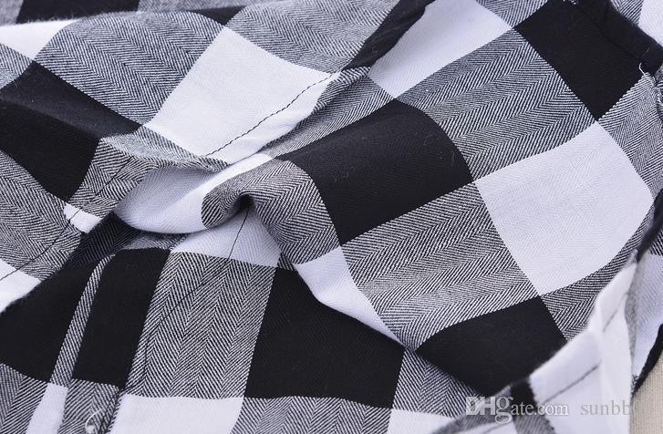 Baby Boys Одежда Набор Лето Дети Плед Рубашка + Средние Шаровары 2 шт. Детская Одежда Костюм Мальчик Наряды Наборы 13166