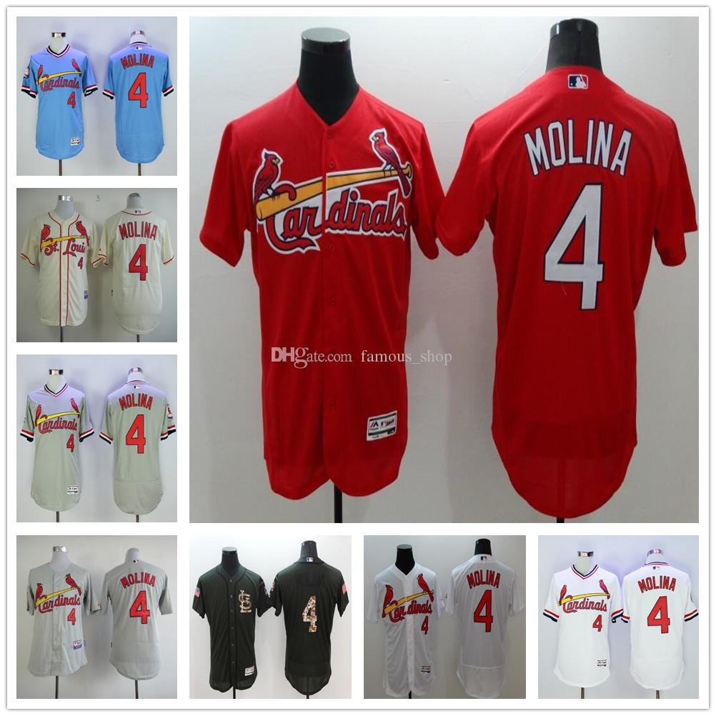 buy popular 87b2a 69e75 st.louis cardinals 4 yadier molina red flexbase authentic ...
