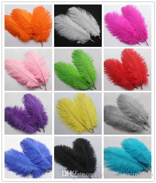 HOT ! Ostrich Feather Plume,6-8inch Blue,Pink,Purple,Orange,Yellow,Black,Red,Green Wedding centerpiece table Decoration TNM-00027