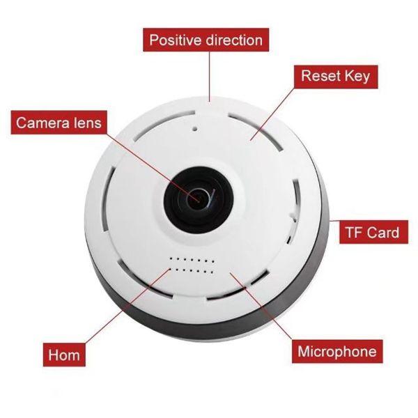 360 درجة واي فاي P2P مصغرة كاميرا IP HD 960P كاميرا مراقبة بانورامية لاسلكية أمن الوطن كاميرا مراقبة الدوائر التلفزيونية المغلقة مع مربع التجزئة