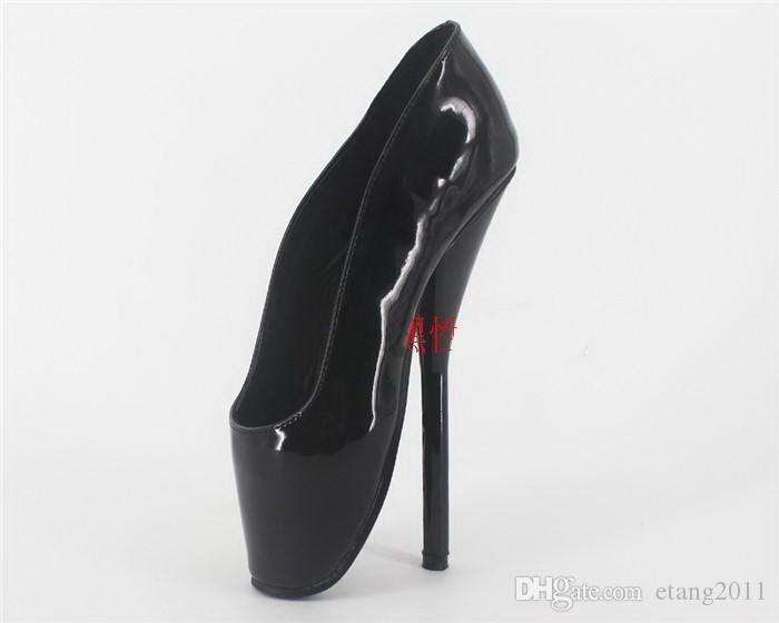New Sex Toys Unisex Sexy BDSM Sm Game Play 18cm Heel Fetish Thigh High Bondage Shoes Heeled Maid Uniform Ballet Shoes