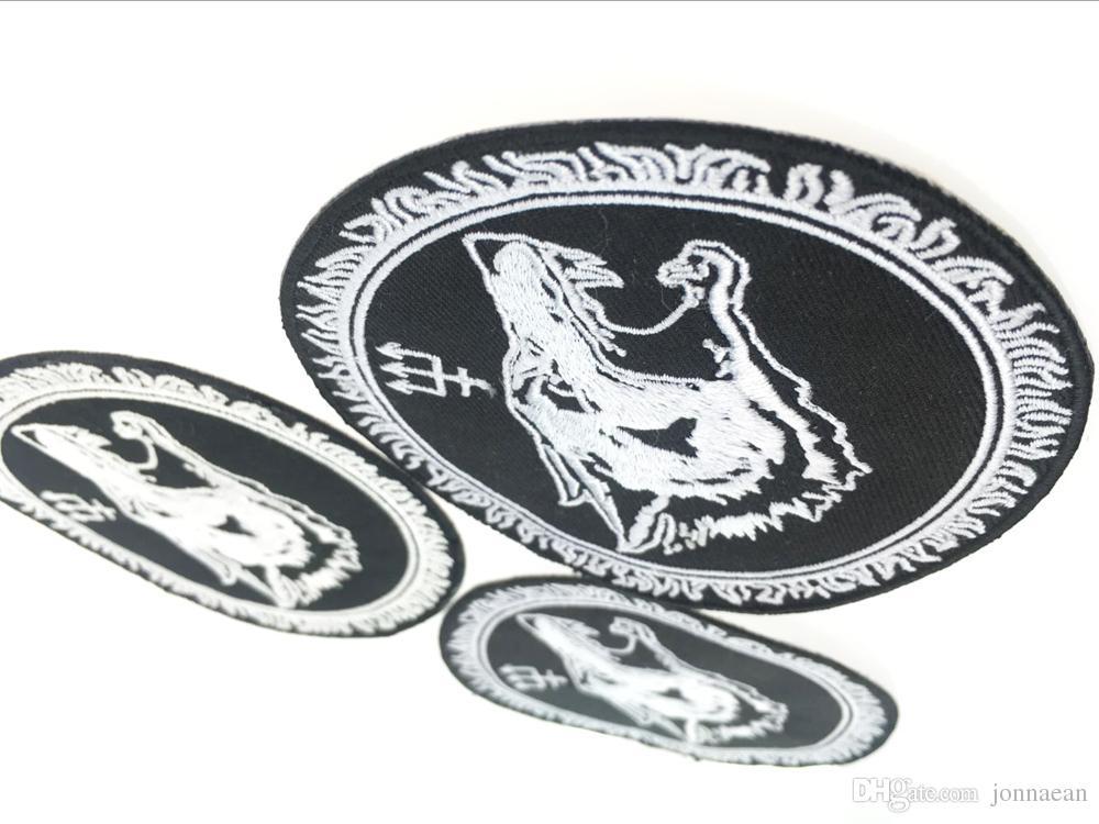 Personnalisé LONG LOUP brodé Fer Sur Patch Gilet En Cuir Veste Badge Broderie 4