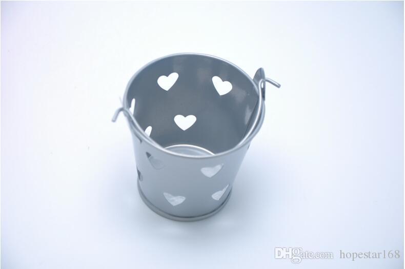 Color del caramelo de la boda Mini Bucket favores de la boda mini cubo Laser Cut cajas de dulces favorece favor paquete de latas