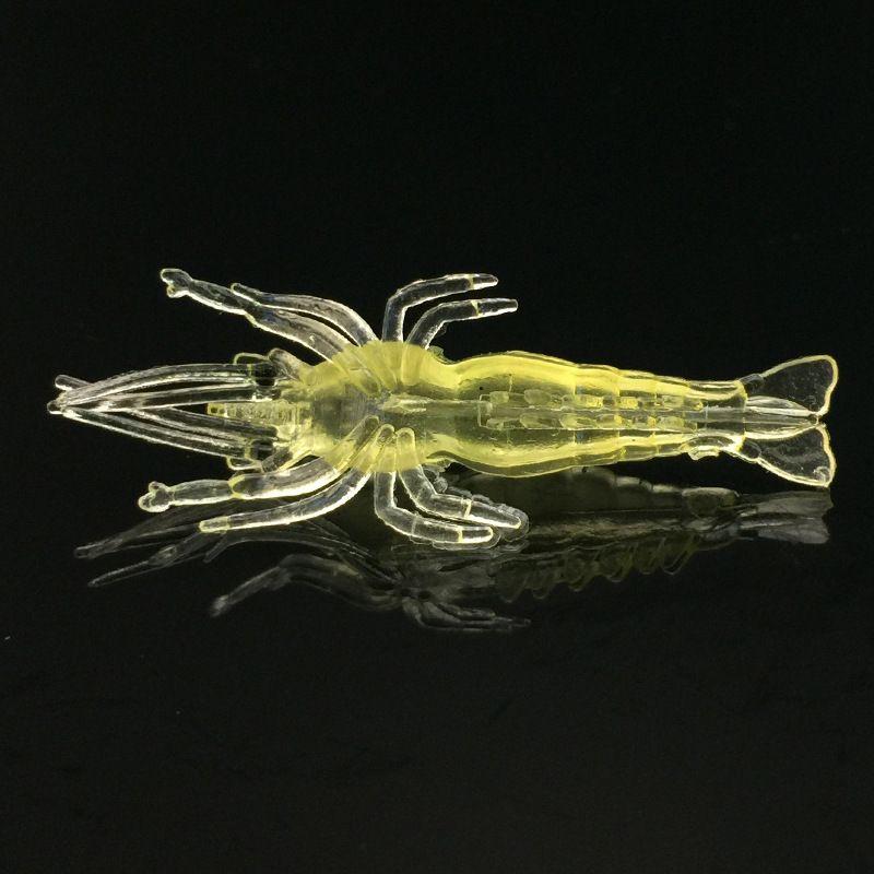 4 cm 1.3g Camarão Silicone Isca De Pesca Iscas Soft Iscas Artificiais Isca de Pesca Equipamento De Pesca Acessórios