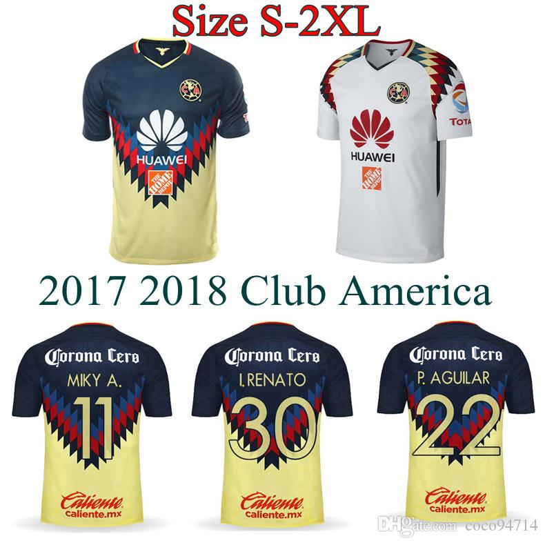 611769c8d52 2019 2017 Club America Jerseys 17 18 Home Away Soccer Jerseys Top Quality  D.BENEDETTO SAMBUEZA P.AGUILAR Mexico Liga C.BLANCO Football Shirts From  Coco94714 ...