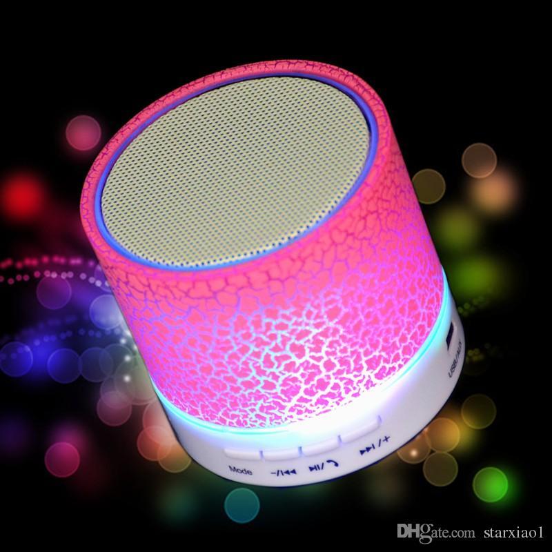 Hot sale Universal wireless HiFi Bluetooth Speaker Music Sound Box Subwoofer Mini Portable LED Speaker hand free for Mobile Phone MP3 Player