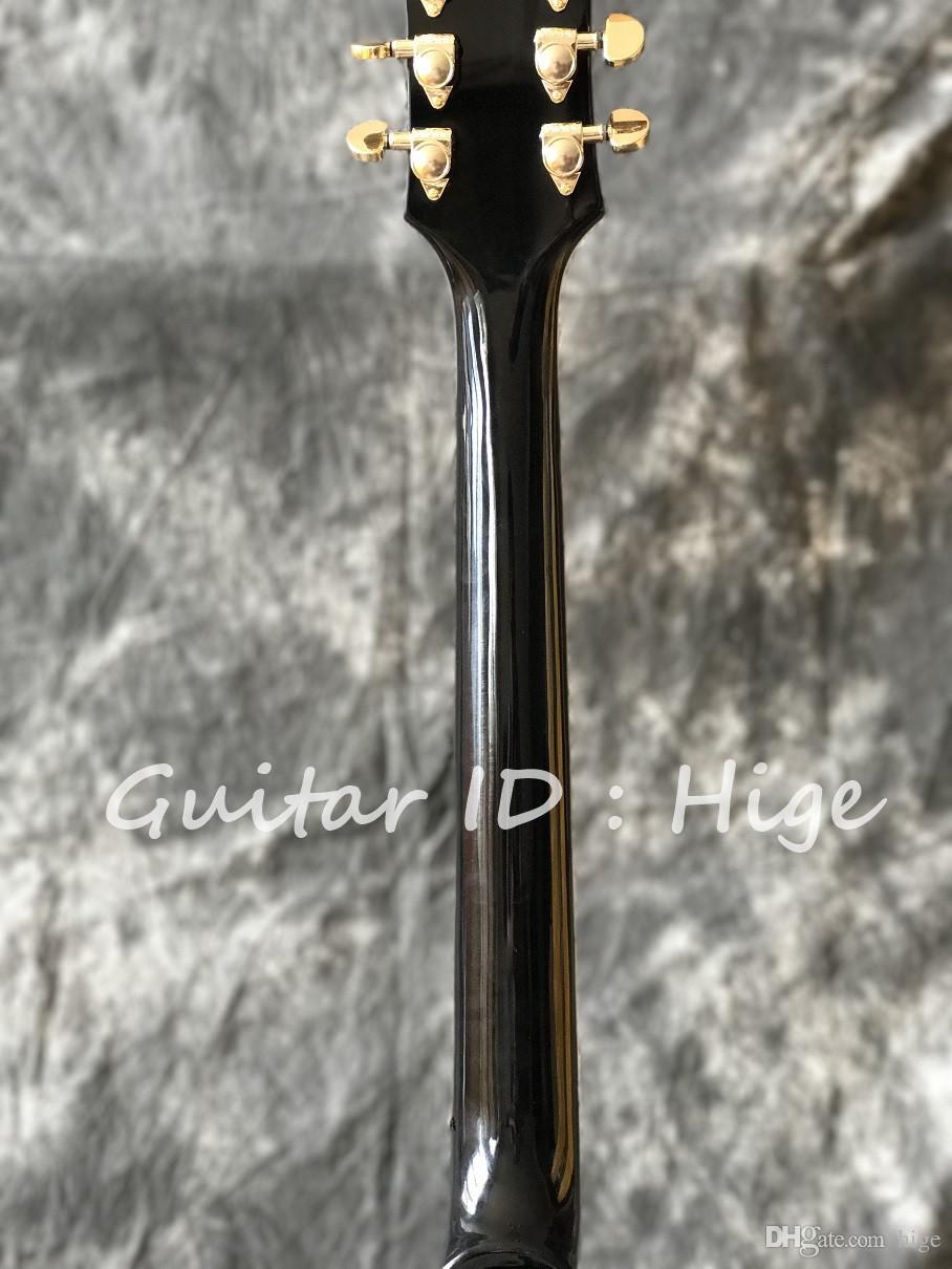 Chitarra elettrica di qualità al dettaglio di vendita al dettaglio all'ingrosso di nuovo, guitarra su ordinazione della fabbrica in marrone scoppiato con hardware dorato