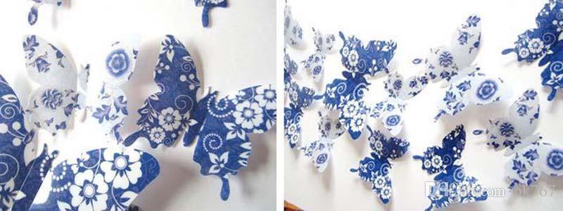 2017 nouvelle entreprise 3D Stickers Muraux Papillon Réfrigérateur Aimant Pour La Maison De Mariage Décoratif livraison gratuite