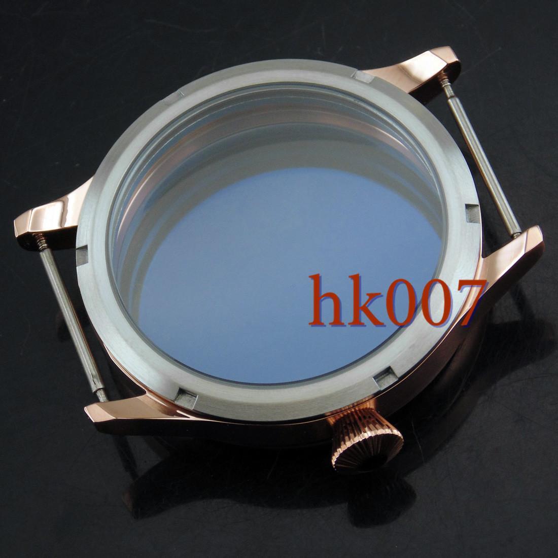 P344 ETA 6497/6498 Seagull ST36 Kit orologio movimento 44mm Corgeut cassa in acciaio Prezzo basso e cassa dell'orologio da polso di buona qualità