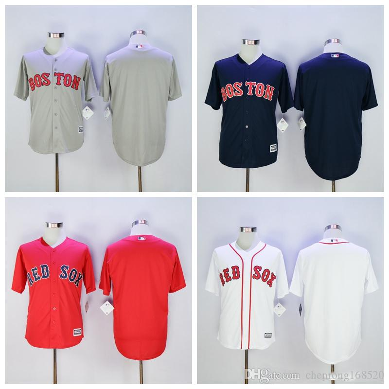 2019 Wholesale Baseball Blank Red Sox Jersey Boston Men Stitched Flexbase  Cool Base Blue White Red Grey Green High Quality On Sale From  Chenrong168520 cb723e21e37