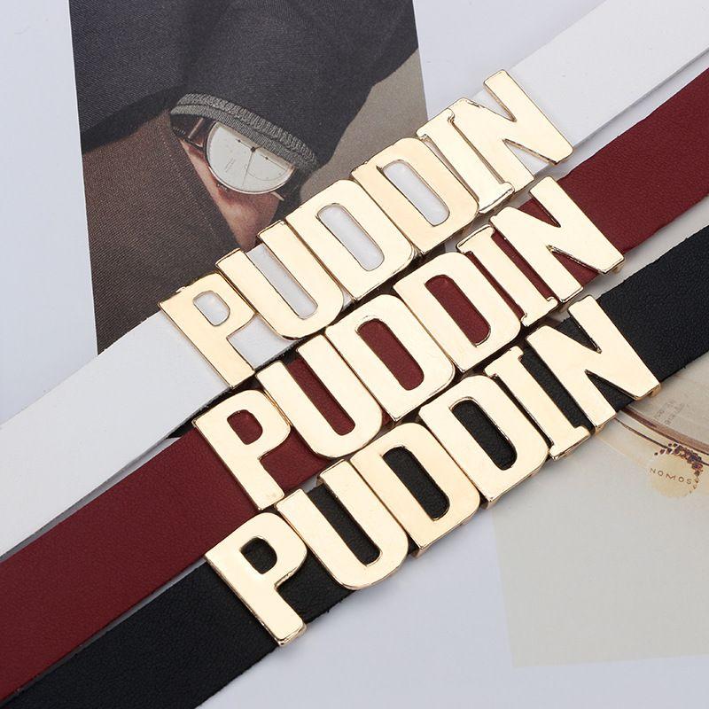 2017 Puddin Gargantilla Collar Mujer Moda Halloween Cosplay Negro Blanco Torques de Cuero Collar Collares Joyería