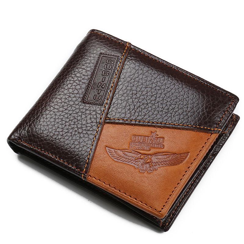 Wholesale Gubintu Genuine Leather Men Wallet Brand Designer Male