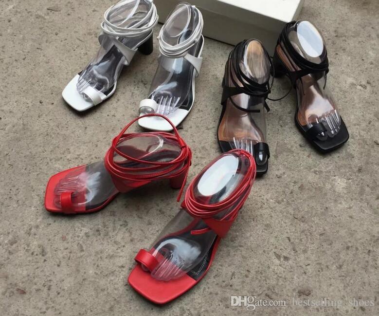 Ремни татуировки простой римский стиль прилива 2017 года дикий толстый каблук сандалии женские летние европейские ветер новое поступление
