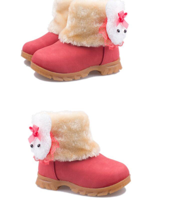 2017 modelli invernali nuovi scarponi da neve bambini coreani stivali da bambina scarpe da bambino in cotone scarpe da bambino in cotone