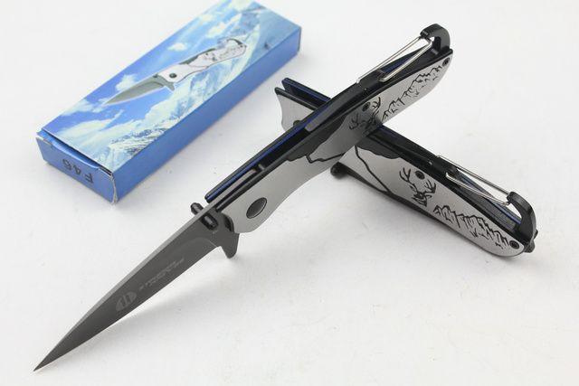 Oferta especial Cuchillos Strider F46 Llavero Cuchillo plegable de bolsillo 5Cr13 56HRC Cuchilla de titanio Cuchillo de supervivencia Cuchillos de bolsillo EDC