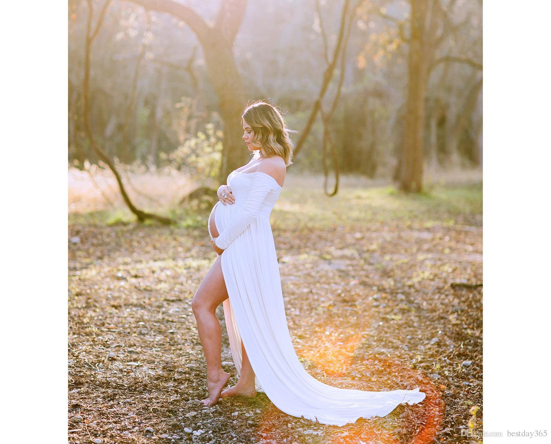 2017 Annelik Fotoğrafçılık Sahne Için Zarif Gebelik Giysileri Hamile Elbiseleri hamile Fotoğraf Çekimi Giyim
