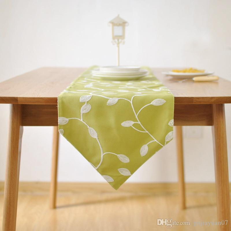 Bz382 embroidered cotton fabric table runner table cloth pastoral bz382 embroidered cotton fabric table runner table cloth pastoral simple european tv cabinet coffee table runner table linens cheap table linens for less junglespirit Images