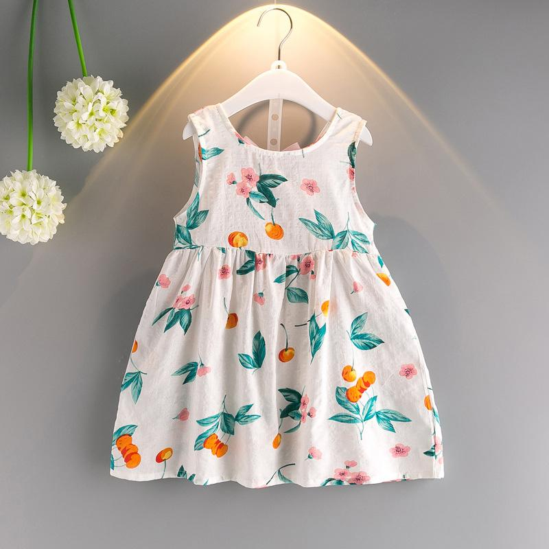 1f8b274dd964 Baby Dresses For Girls Summer Princess Cute Cotton Voile Striped ...