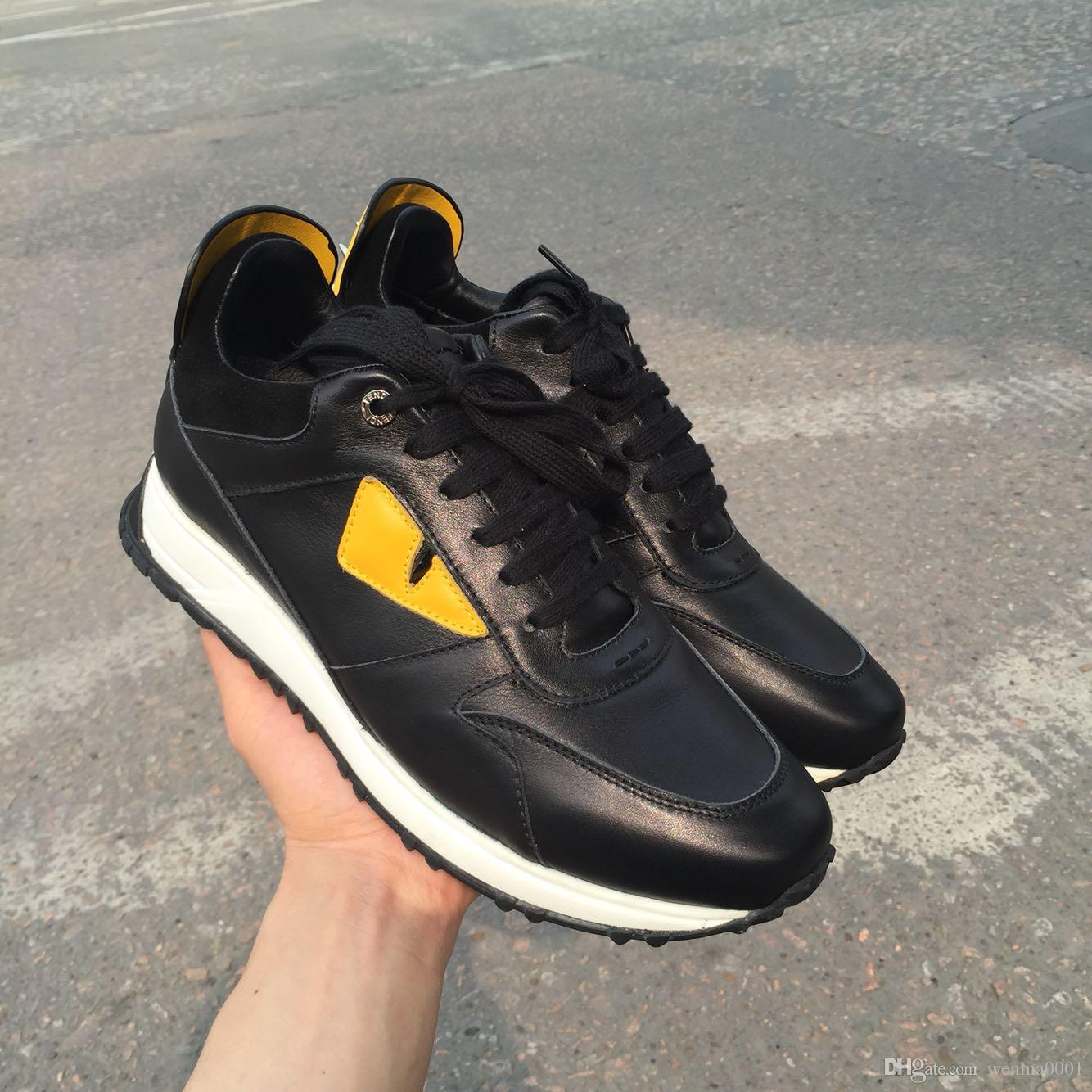 Excellent Quality Male Casual Running Shoes Name Brand Cheap Men Sneakers  Yellow Eyes With Back Rivets Shoe Hombre 39 46 Women Shoes Mens Sandals  From ... 1362e27bb615