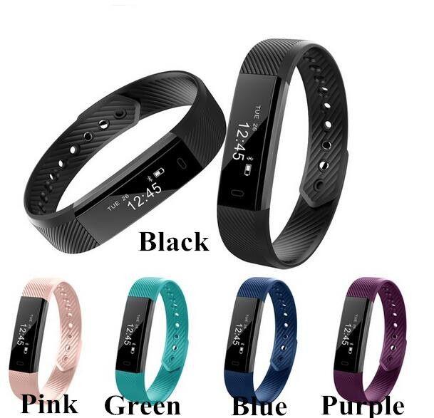 Upgrade TW64 ID115 Smart Wristband Bracelet Fitness Tracker Sleep Monitor Alarm Clock Bluetooth Wristwatch for Android Apple