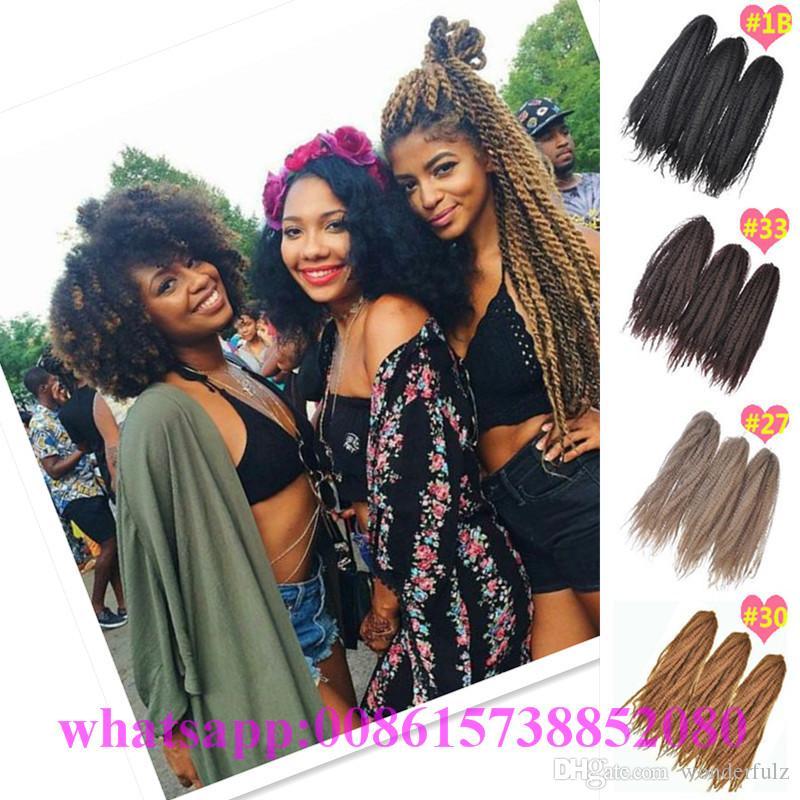 Afro Kinky Marley 2 Medium Brown Kanekalon Braiding Hair 18 Jumbo