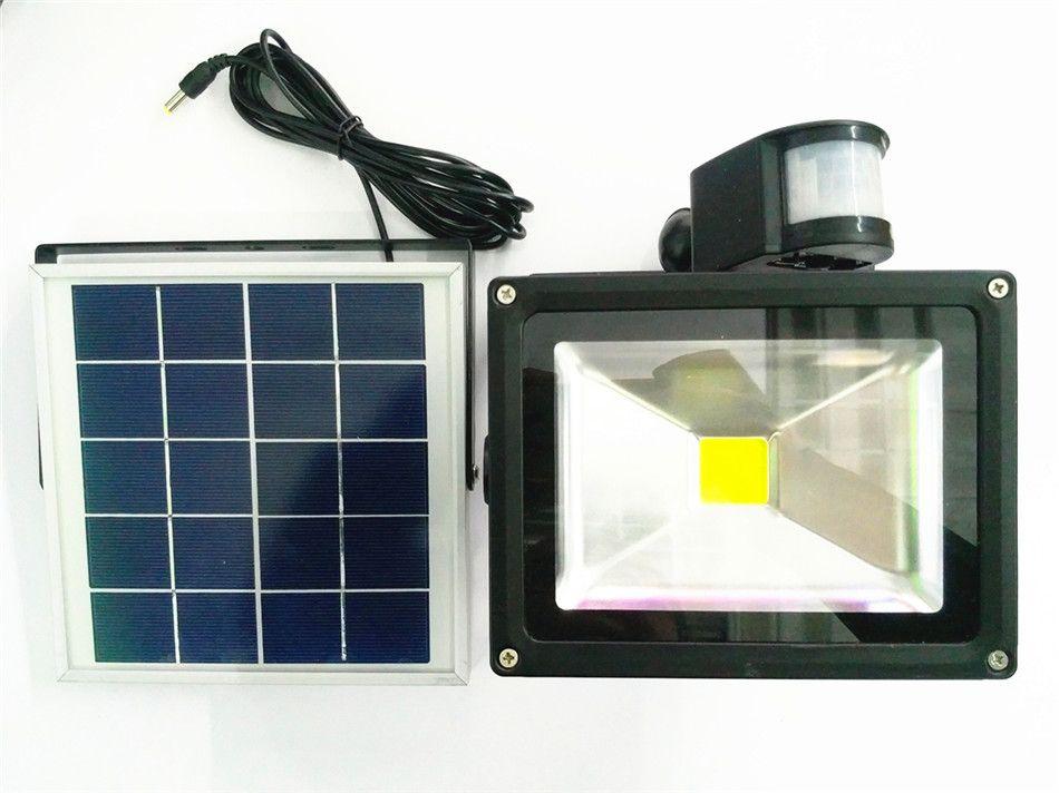 new led floodlight 20w solar energy body sensor light cordless