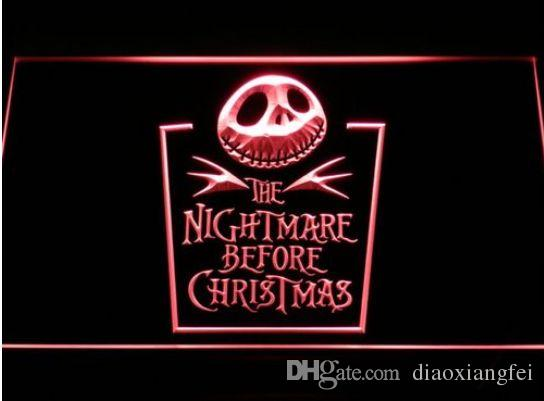 2018 nightmare before christmas beer bar 3d signs culb pub led neon light sign home decor crafts from diaoxiangfei 1189 dhgatecom - Nightmare Before Christmas 3d