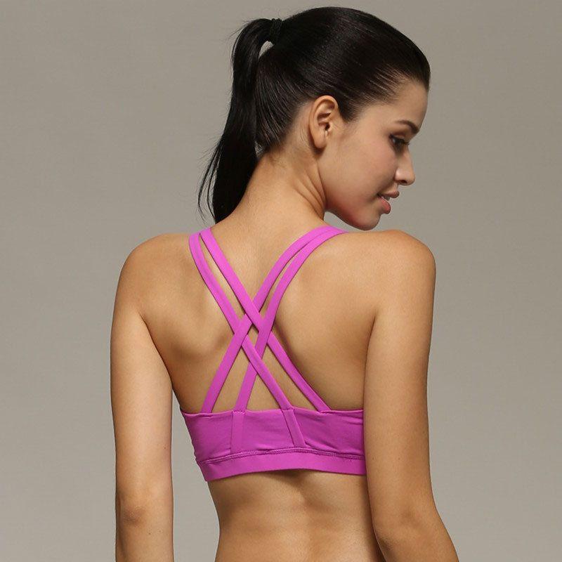 90e72a6124 Sports Shockproof Rmagic Sport Bra Top Fitness Gym Women Strappy ...