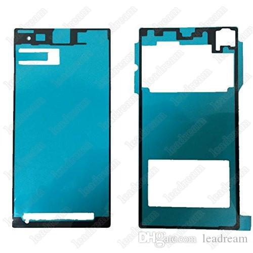 Pantalla frontal y cubierta posterior adhesivo impermeable cinta adhesiva para Sony z4 z5 z4 mini z5 mini
