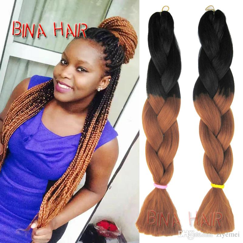 Ombre Synthetic Braiding Hair 24inch Blonde Extensions Xpression