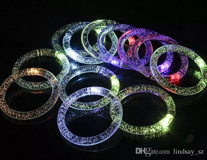 LED Flash Blink Blinking Color Changing Light Lamp Party Fluorescence Club Stage Bracelet Bangle