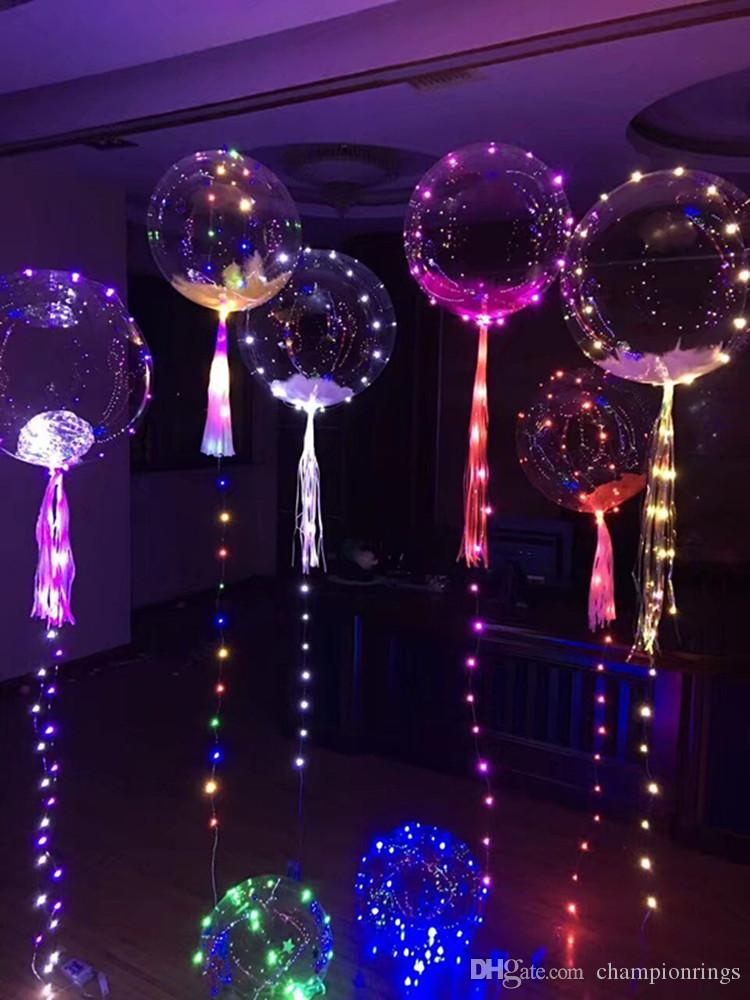 2017 dhl ship new bobo ball wave led line string balloon light with colored light for christmas halloween wedding party children home decoration from - Light For Christmas