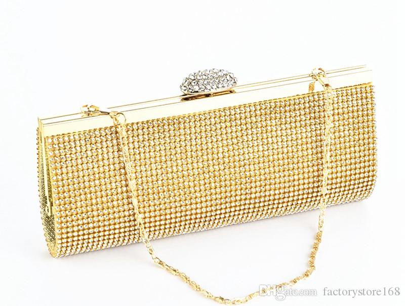 2017 Nova Sacos de noite de Diamante cadeias de designer de bolsas de strass senhoras bolsas de luxo bloqueio bolsa aberta