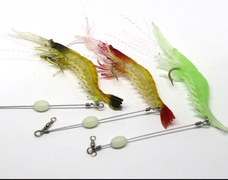 9cm/5.4g Bionic Shrimp Prawn Lure Soft Bait Fishing Tackle Lifelike with Hook Practical Fishing Lures