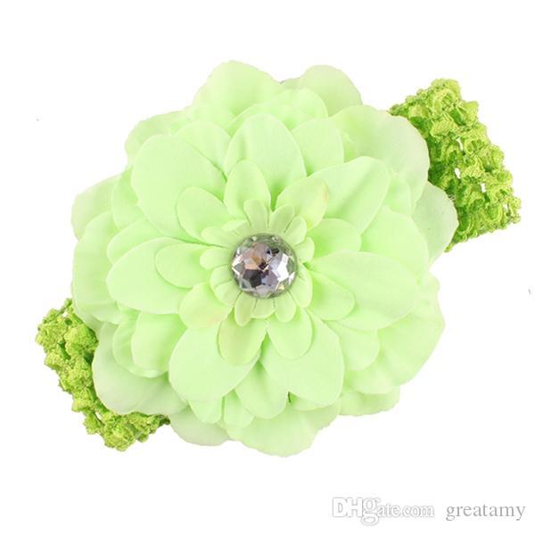 12 Couleur Bébé en mousseline de soie crochet headhand élastique coloré Noël floral Pivoine fleur Hairband hairbow Accessorie Livraison gratuite