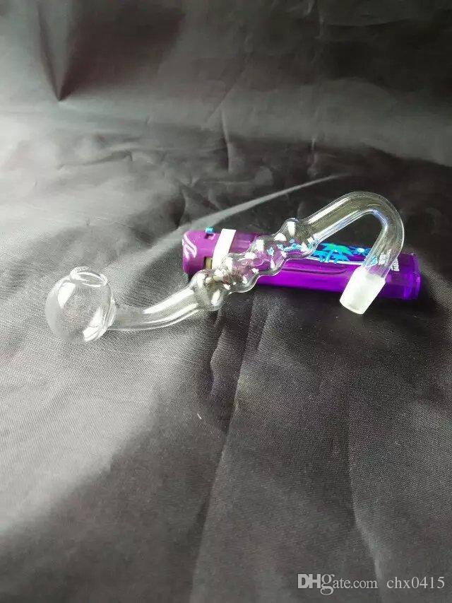 tubes S avec quatre accessoires bong en verre pot à bulles, Les tubes de verre d'huile unique brûleur tuyaux d'eau Pipe en verre huile fumante avec Rigs Dropper