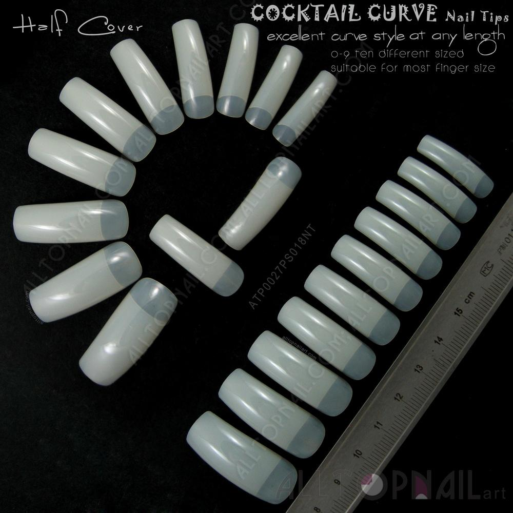 Wholesale-French Tapered Deep-C Curve Nail Tips 100x Natural Ivory ...