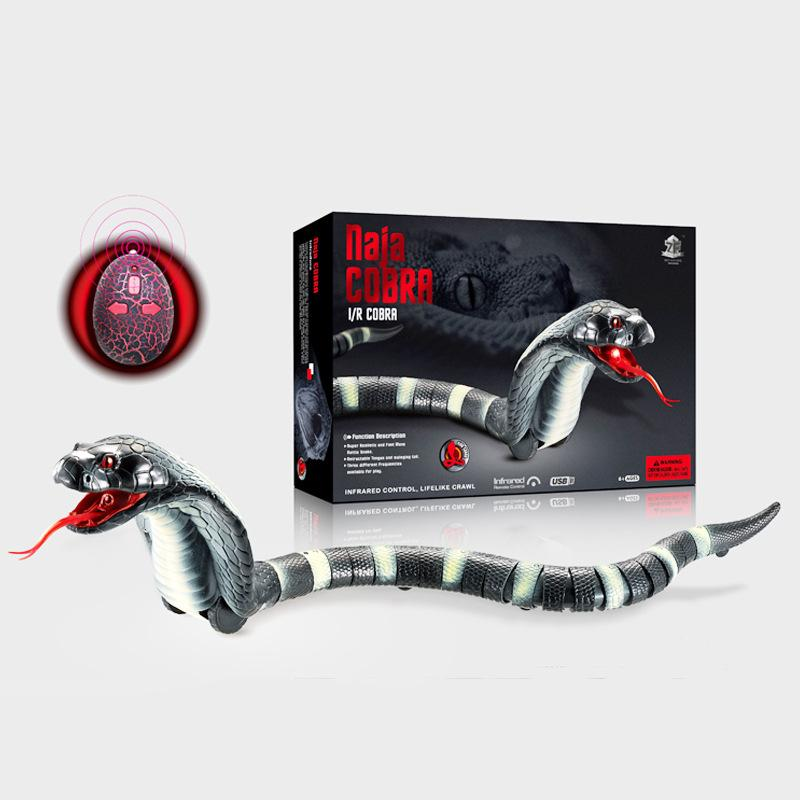 Nuovo design vendita calda rc serpente bionico rettile animale a raggi infrarossi radiocomando ratlesnake cervelli ingannevoli educazione della prima infanzia giocattoli