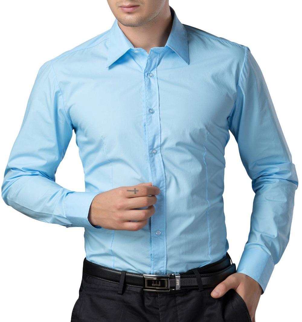 2018 wholesale men dress shirts fashion brand mens for Discount mens dress shirts online