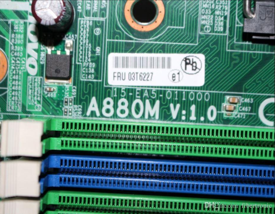 Orijinal 03T6227 A880M V1.0 RS880PM-LM Anakart Için LENOVO M77 / M7100T / M5170T Soket AM3 DDR3 880G Masaüstü Anakart ile DP COM PCI