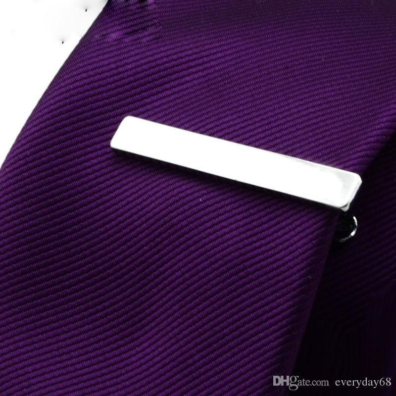 긴 4 CM 10 모델 고품질 소매 짧은 실버 남성 금속 넥타이 타이 바 망 크롬 클램프 일반 스키니 타이 클립 핀 바
