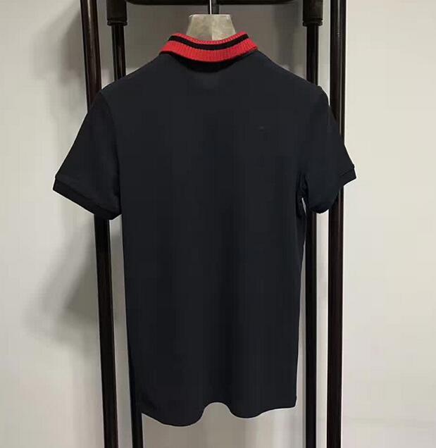 Mens di marca Leopard Snake Bee Flower Crown Polo Shirt Moda casual cotone manica corta ragazzi bavero Tees Classic Summer T-Shirt 3XL nero