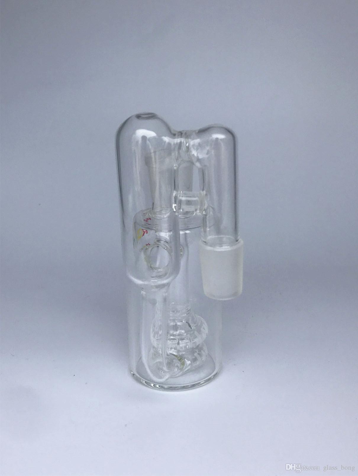 Cam Kül Catcher Bong Ashcatcher Su Boruları Bongs 14mm 18mm Ağır DAB Oil Teçhizatı Sigara Aksesuarı