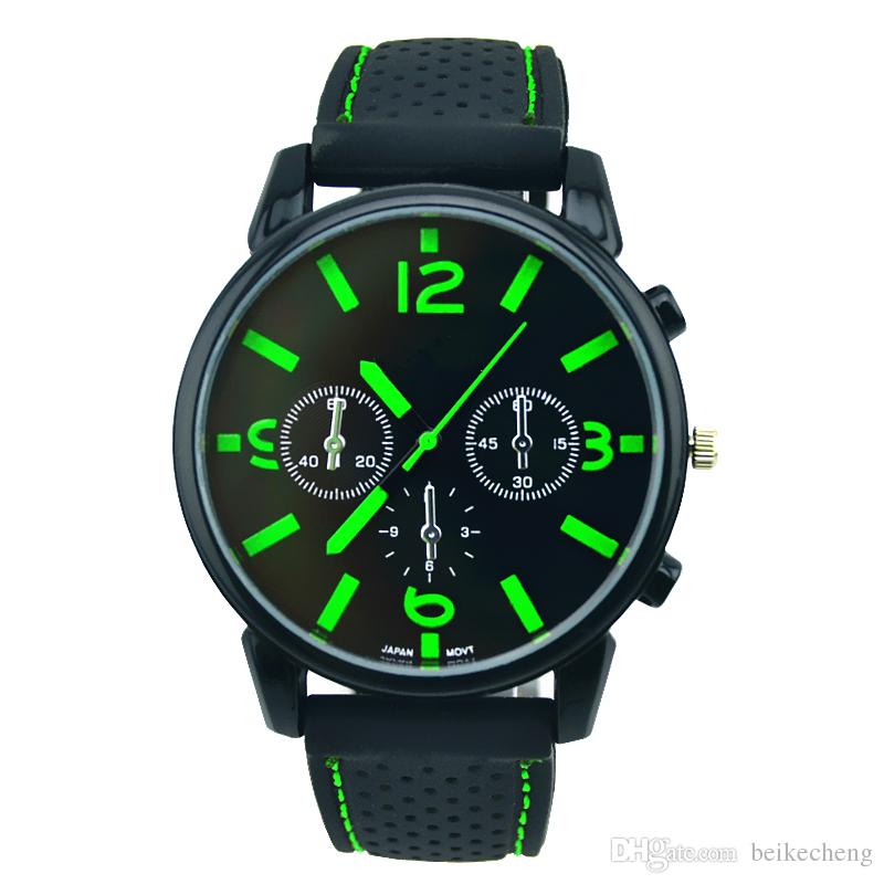 Wholesale Mix Men Causal SPORT Military Pilot Aviator Army Racing Silicone GT Watch RW016