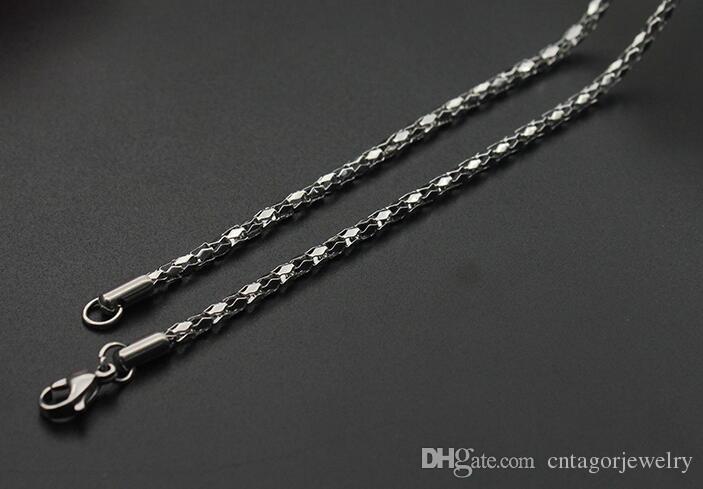 Diâmetro 2mm / 2.5mm / 3mm / 3.5mm / 4mm de Aço Inoxidável 316L Espelho de Diamante Colar de Corrente Líquida 18