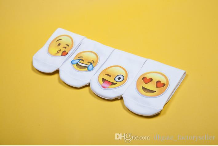 2016 mais novo 3D Moda Impressão Mulheres Homens Unisex Meias Emoji Padrão Meias Feminina Engraçado Baixo Tornozelo Meias