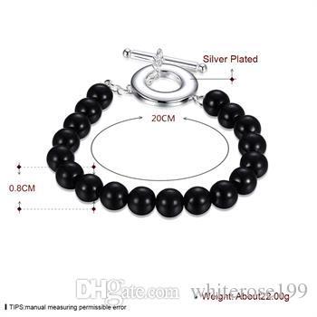 Groothandel - detailhandel laagste prijs kerstcadeau, gratis verzending, nieuwe 925 zilveren mode armband B39