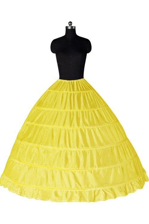 Top Qualität Ballkleid 6 Reifen Petticoat Hochzeit Beleg Krinoline Auf Lager Braut Unterrock Schichten Slip Rock Krinoline für Quinceanera Kleid