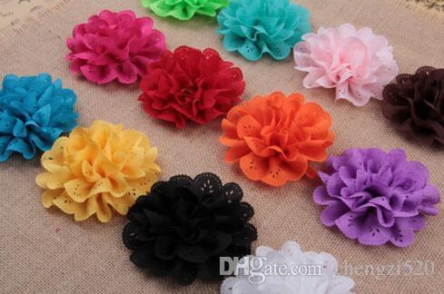Nouvelle Dentelle Fleur Tête À La Main Fleur Bébé Filles Cheveux Accessoires Boutique Fleurs Pour Enfants YH472