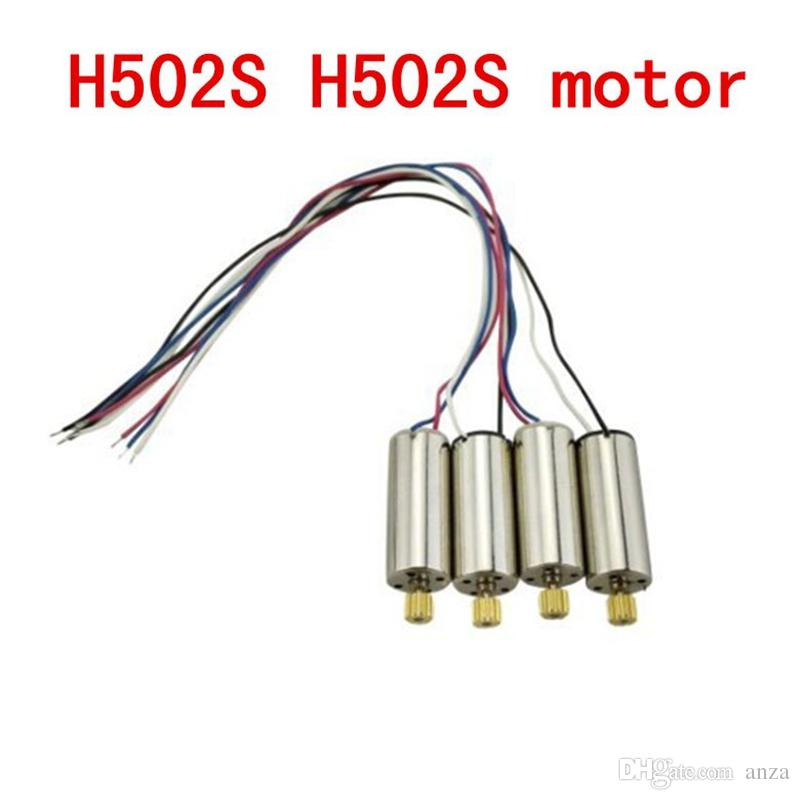 4x Standard Motor for JJRC H8C DFD F183 F182 F181 H502S H502E RC Quadrocopter Drone Spare Parts Accessories Motor Engine with Wheel Gear